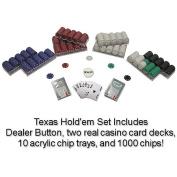 Trademark Poker 1000 Suited 11.5 Gramme Poker Chips Texas Hold'Em Set