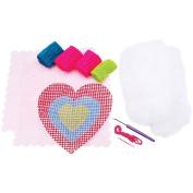 Quincrafts You Design It Latch Hook Pillow Kit, Heart