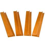 20'' Classic Wood Wooden Mahjong Game Racks - Set of 4