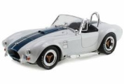 1965 Shelby Cobra 427 S/C White with Blue Stripes 1/18 by Shelby Collectibles SC115