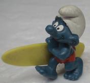Vintage Pvc Figure : Smurfs Smurf Surfer