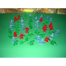 50 Pieces Cowboys Toy Soldiers Set