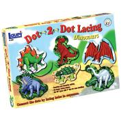 Lauri Dot-2-Dot Lacing Kit, Dinosaurs