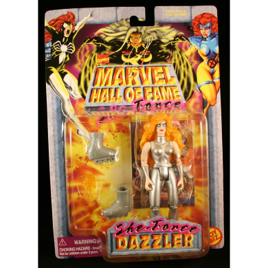 DAZZLER Marvel Comics Hall Of Fame SHE-FORCE Series 1997 Action Figure and Collector Trading Card