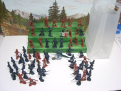 Alamo Figures Toy Soldiers with Cannon and Carrying Bag