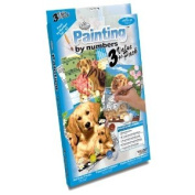 Royal & Langnickel Painting by Numbers Junior Small 3-Piece Art Activity Kit, Dogs Set