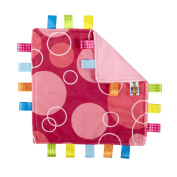 Taggies Little Taggies Blanket, Pink Bubbles