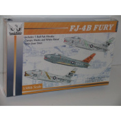 FJ-4B Fury Jet Fighter Aircraft--Plastic Model Kit