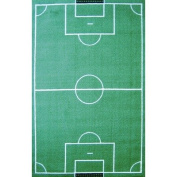 Fun Time Soccer Field Sports Rug