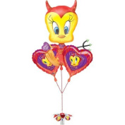 Party - Tweety Devil Valentines Day Foil Balloon Bunch - Amscan