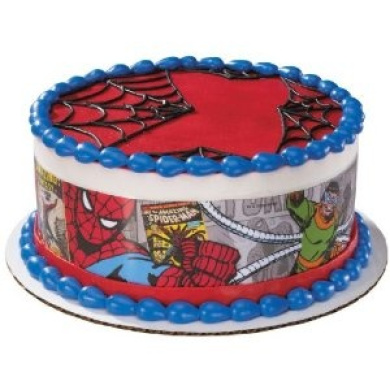 Spiderman Edible Cake Border Decoration