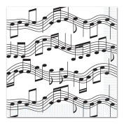 Beistle 58113 Musical Note Luncheon Napkins