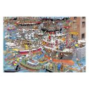 Jan Van Haasteren - Crazy Harbour - 1500 Piece Puzzle - Jigsaw - Jumbo