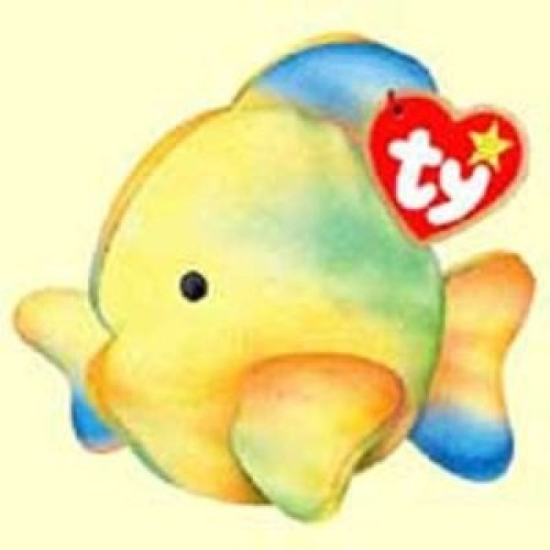 Coral the tie dyed fish mcdonald 39 s ty teenie beanie for Fish beanie baby