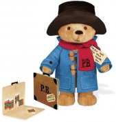 Paddington Bear 25cm  Traditional Soft Toy With Paperboard Suitcase