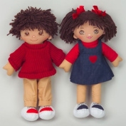 Dexter Educational Toys DEX306H Boy and Girl Dolls Hispanic