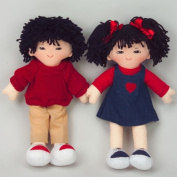 Dexter Educational Toys DEX306A Boy and Girl Dolls - Asian