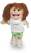 Sunny Puppets 36cm Girl - Cool Shirt Green Pants Puppet
