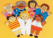 Dexter Educational Toys DEX810H Dexter Family 7 Piece Puppet Set - Hispanic