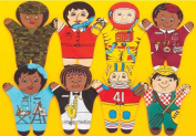 Dexter Educational Toys DEX840M Career 8 Piece Puppet Set - Multicultural