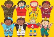 Dexter Educational Toys DEX840M Career 8 Piece Puppet Set - Multicultural