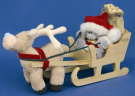 Me to You 4'' Bear Sleigh and Rider Santa