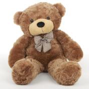 Sunny Cuddles Soft and Huggable Mocha Brown Teddy Bear 80cm