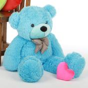Happy Cuddles Huggable and Cuddly Sky Blue Teddy Bear 80cm