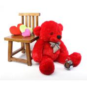 Bitsy Cuddles - 100cm  - Super Soft & Huggable, Red Plush teddy Bear, by Giant Teddy
