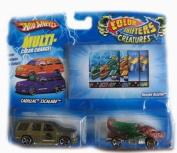Hot Wheels Colour Shifters Creature Cars Cadillac Escalade & Dragon Blaster Car Set