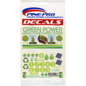 Pine-Pro Stick-On Decal Green Power