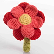 Flower Rattle - Red