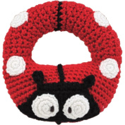 Hand Crocheted Dog Ring Rattle by Dandelion - 51011