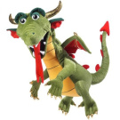 Small Dragon Animal Puppets Toys, 20 x 12 x 10
