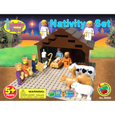 Trinity Toyz Nativity Set Building Block Set - Compatible with all leading brands!