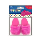 Springfield Collection Fur Slippers-Pink