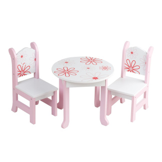 46cm Doll Furniture Fits American Girl Dolls 46cm Floral Table And Chairs By Emily Rose Doll