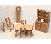 Greenleaf Dollhouse Furniture Kit, Dining Room