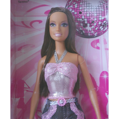 Barbie Fashion Fever Disco Ball Doll Teresa In Pink Top And Jeans By Mattel Shop Online For