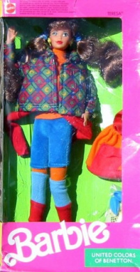 Barbie united colours of benetton teresa doll by barbie for Benetton usa online shop