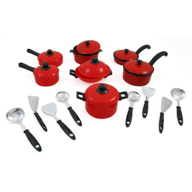 15 Piece Pots and Pans Kitchen Cookware Playset for Kids with Cooking ...