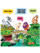 Billy Goats Gruff Felt story set for Flanned Boards plus worksheets