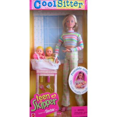 Barbie Cool Sitter TEEN SKIPPER Doll - Babysitting 2 is Twice the Fun! (1998)