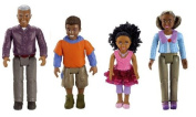 Fisher Price Loving Family Dollhouse AFRICAN AMERICAN GRANDMA, GRANDPA, BROTHER, SISTER