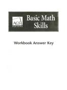 Basic Math Skills Workbook Answer Key