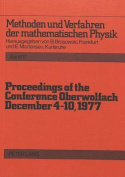 Proceedings of the Conference Oberwolfach