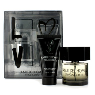 La Nuit De LHomme Coffret: Eau De Toilette Spray 60ml/2oz + After Shave Balm 50ml/1.6oz, 2pcs