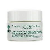 Creme Fraiche De Beaute Enrichie 24HR Soothing And Moisturising Rich Cream (Dry to Very Dry Sensitive Skin), 50ml/1.7oz