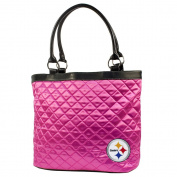 NFL - Pittsburgh Steelers Pink Quilted Tote