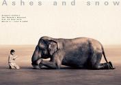 Boy Reading to Elephant NY Exhibition (Giant Poster)